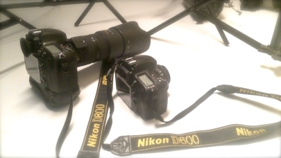 Studio camera D800 & Outdoor camera D600 Nikon's