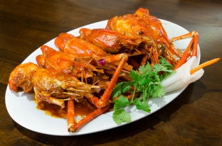 Huge prawns - Bonsai Resto & Bar