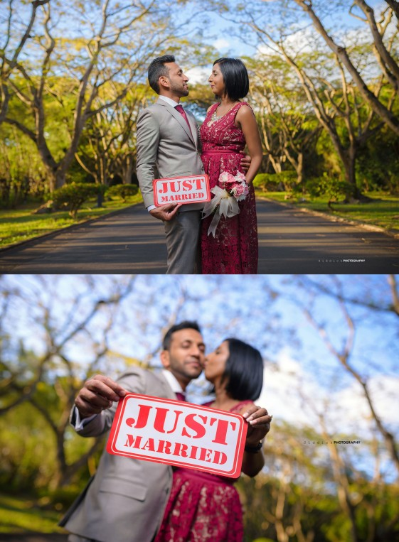 JUST MARRIED K+V