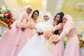 Suhailah and her bridesmaids